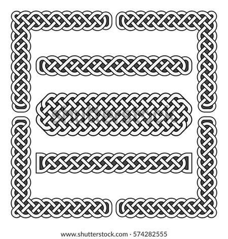 celtic knots vector medieval borders corner stock vector 574282555 rh shutterstock com celtic circle border vector free celtic border clipart vector