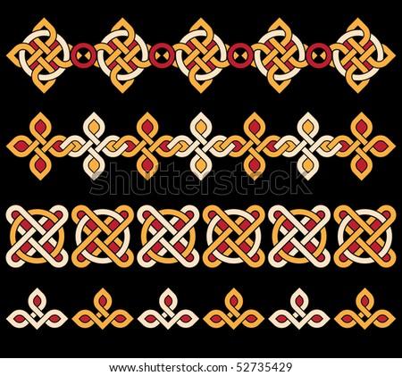 celtic ornaments - stock vector