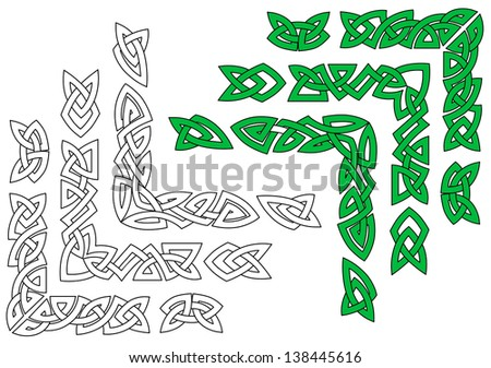 Celtic ornaments and patterns for design and embellishments. Jpeg (bitmap) version also available in gallery - stock vector