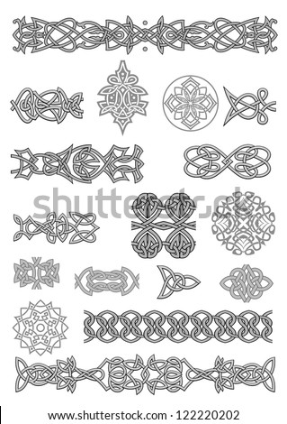Celtic ornaments and patterns set for embellish and ornate. Jpeg version also available in gallery - stock vector