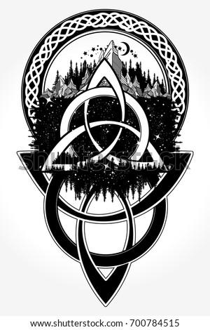 celtic tattoo tshirt design celtic knot 700784515 shutterstock. Black Bedroom Furniture Sets. Home Design Ideas