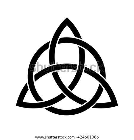 Celtic Trinity Knot Vector Line Drawing Stock Vector ...