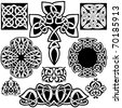 Celtic vector art-collection on a white background. - stock vector
