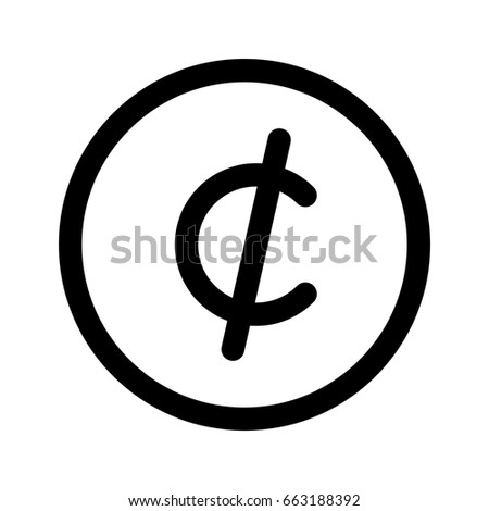 Cent Symbol Stock Vector 663188392 Shutterstock
