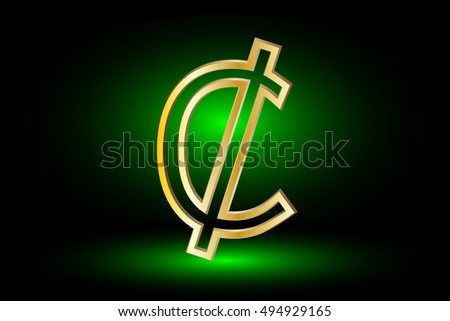 Cent Vector Icon Cent Cent Symbol Stock Vector Royalty Free