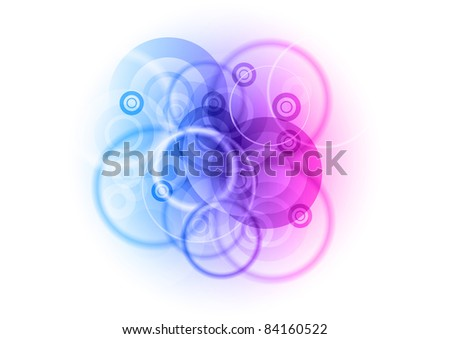 center background with abstract circles - stock vector