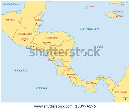 Central America Map Stock Images RoyaltyFree Images Vectors - Central america map