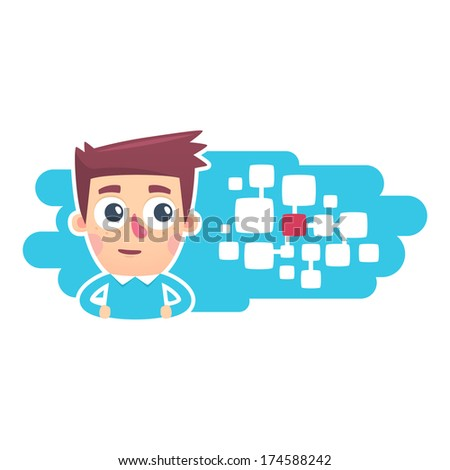 central control system - stock vector