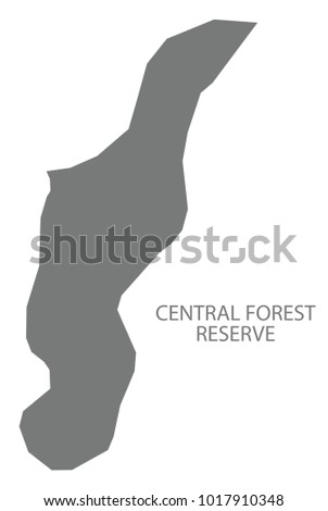 Central Forest Reserve Map Saint Lucia Stock Vector 1017910348