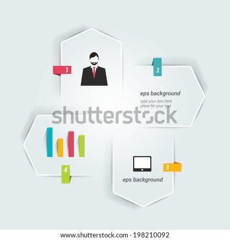 Central numbered template. Vector. - stock vector