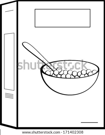 cereal box stock vector 171402308 shutterstock rh shutterstock com Cookie Box Clip Art Cookie Box Clip Art