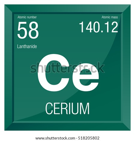 Cerium symbol element number 58 periodic stock vector 518205802 cerium symbol element number 58 of the periodic table of the elements chemistry urtaz Images