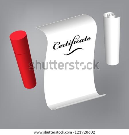 certificate - stock vector