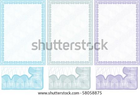Certificate background - stock vector