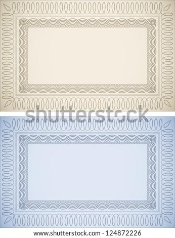 Certificate Backgrounds - stock vector