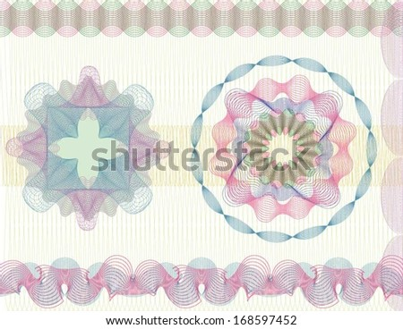Certificate border and design elements - stock vector
