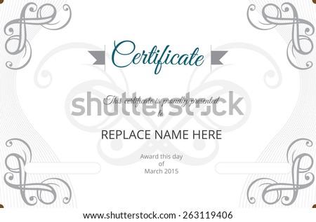 Certificate Border Certificate Template Vector Illustration Stock