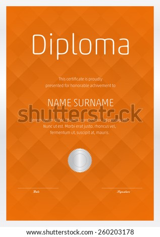 Certificate diploma completion vector design template stock vector certificate diploma of completion vector design template yadclub Images