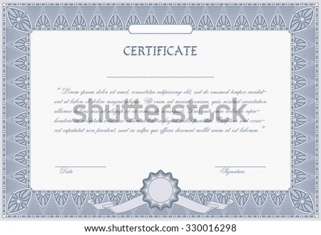 Certificate diploma template vector illustration stock vector certificate diploma template vector illustration yadclub Choice Image