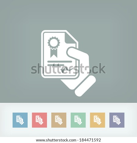 Certificate document icon - stock vector