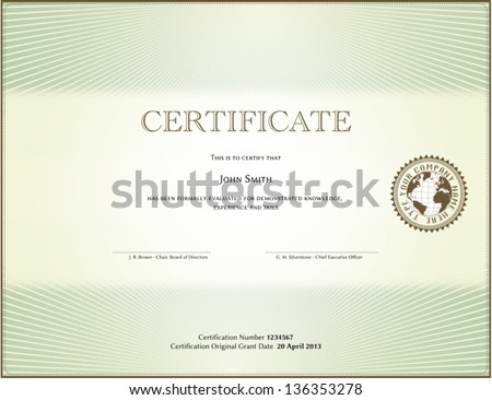 Certificate form stock vector 136353278 shutterstock certificate form yelopaper Choice Image
