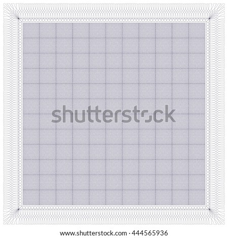 Certificate Guilloche Background Vector Illustration,