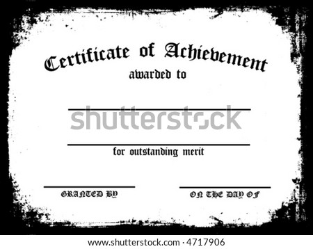 Certificate of Achievement. Customizable - Fill in the blanks! - stock vector