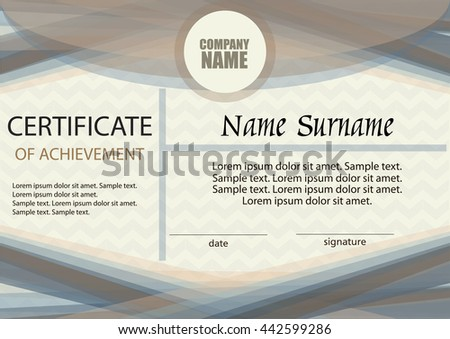 Diploma certificate reward winning competition award stock vector certificate of achievement or diploma template horizontal award winner winning the competition yelopaper Choice Image