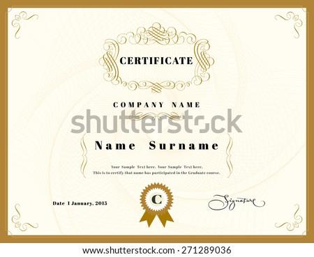 Certificate appreciation design template element emblem stock certificate of appreciation design template element with emblem yadclub Images