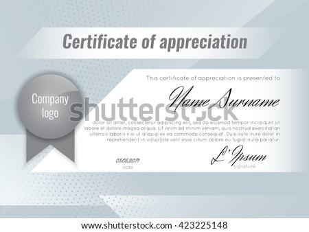Certificate Appreciation Template Stock Vector Stock Vector