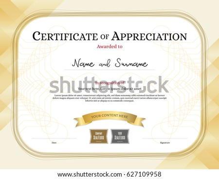 template for award