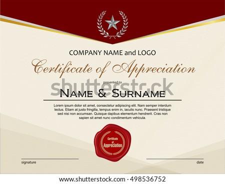 Certificate appreciation wax seal portrait version stock vector certificate of appreciation with wax seal yadclub Images