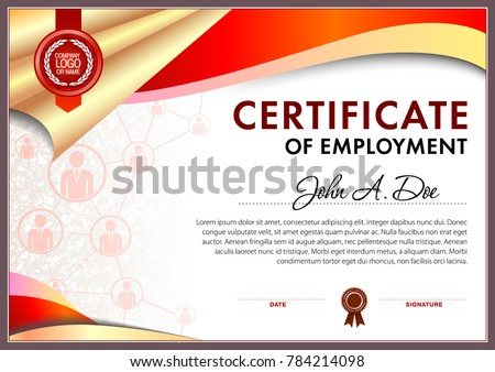 certificate of employment blank template