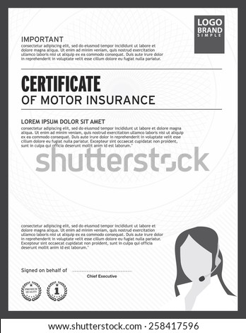 Motor insurance motor insurance certificate for Motor insurance certificate templates