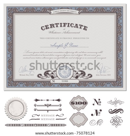 Award Certificate Stock Images RoyaltyFree Images  Vectors