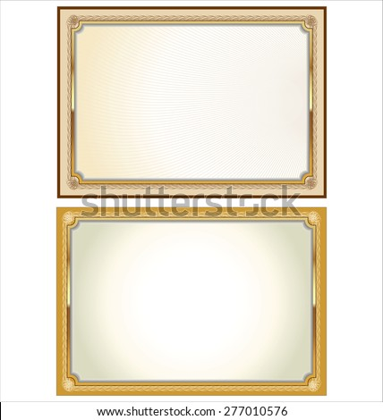 Certificate or Diploma template - stock vector