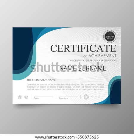 Certificate Premium Template Awards Diploma Background Stock Vector 550875625 Shutterstock