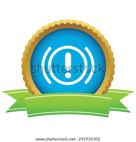 Certificate seal with image of alert sign, isolated on white - stock vector