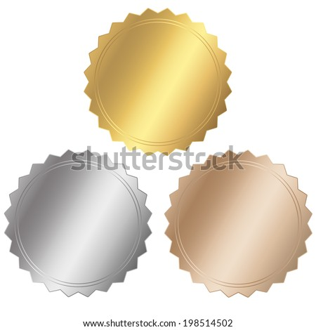 certificate Set - stock vector