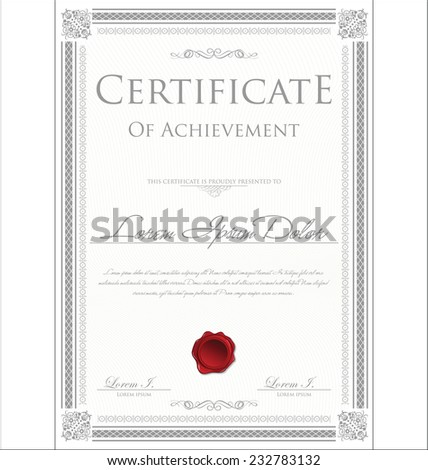 Diploma frame stock images royalty free images vectors certificate template yadclub Choice Image