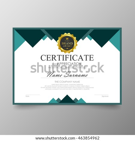 Certificate Template Awards Diploma Background Vector Vector – Certificate Layout