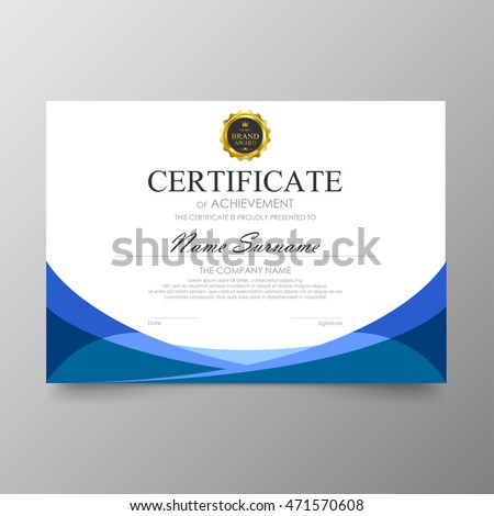 Certificate template awards diploma background vector certificate template awards diploma background vector modern value design and luxurious elegantlustration layout cover yelopaper Image collections