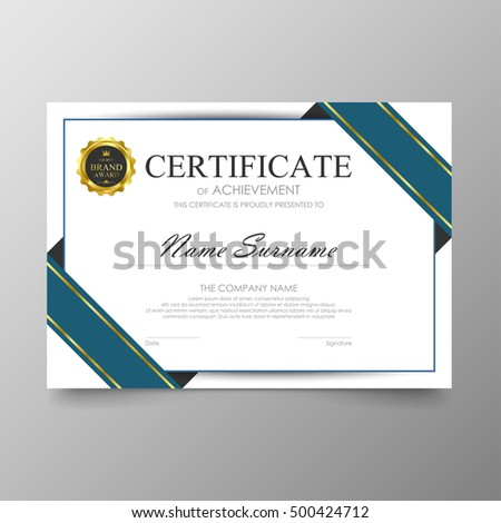 Certificate template awards diploma background vector stock vector certificate template awards diploma background vector modern value design and luxurious elegantlustration layout cover yelopaper Image collections