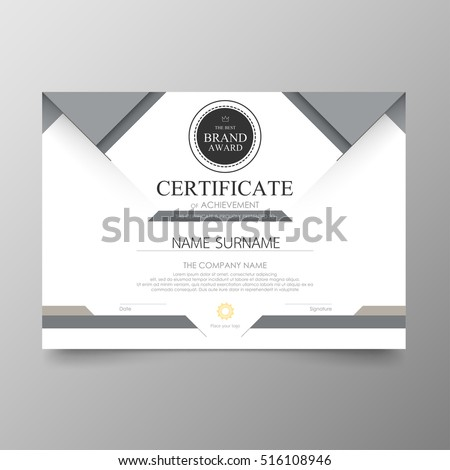 Certificate Template Awards Diploma Background Vector Modern Value Design  And Luxurious Elegant.Illustration Layout Cover