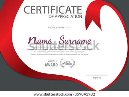 Certificate Templatediploma Layout A 4 Size Vector Stock Photo