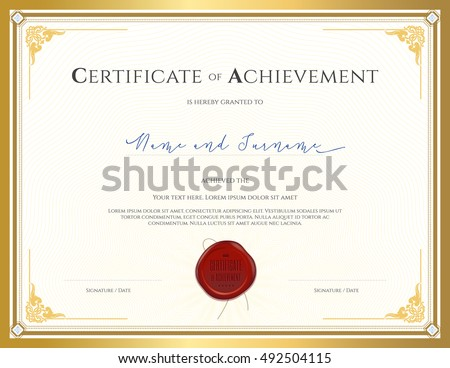 Certificate Template Achievement Appreciation Completion