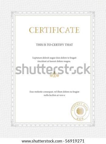 Certificate template - general purpose - stock vector