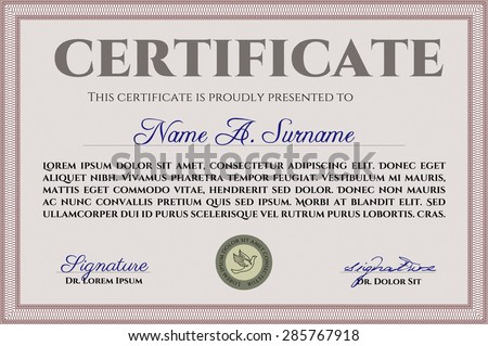Certificate template diploma template quality background stock certificate template or diploma template with quality background artistry design money style yelopaper Gallery