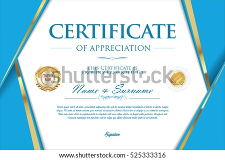 template for certificate award