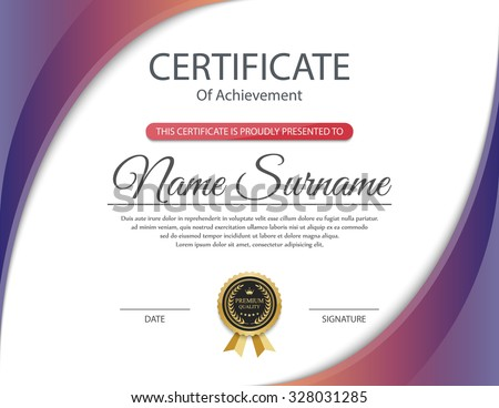 Certificate template vector stock vector 328031285 shutterstock yelopaper Image collections